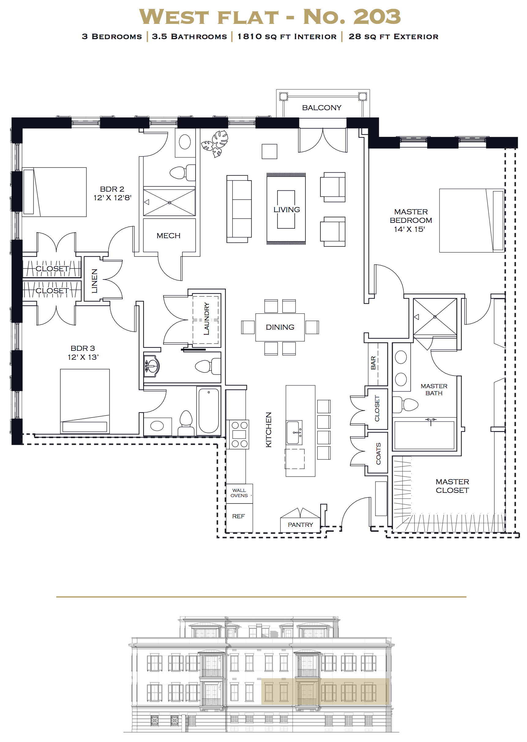 west flat floor plan